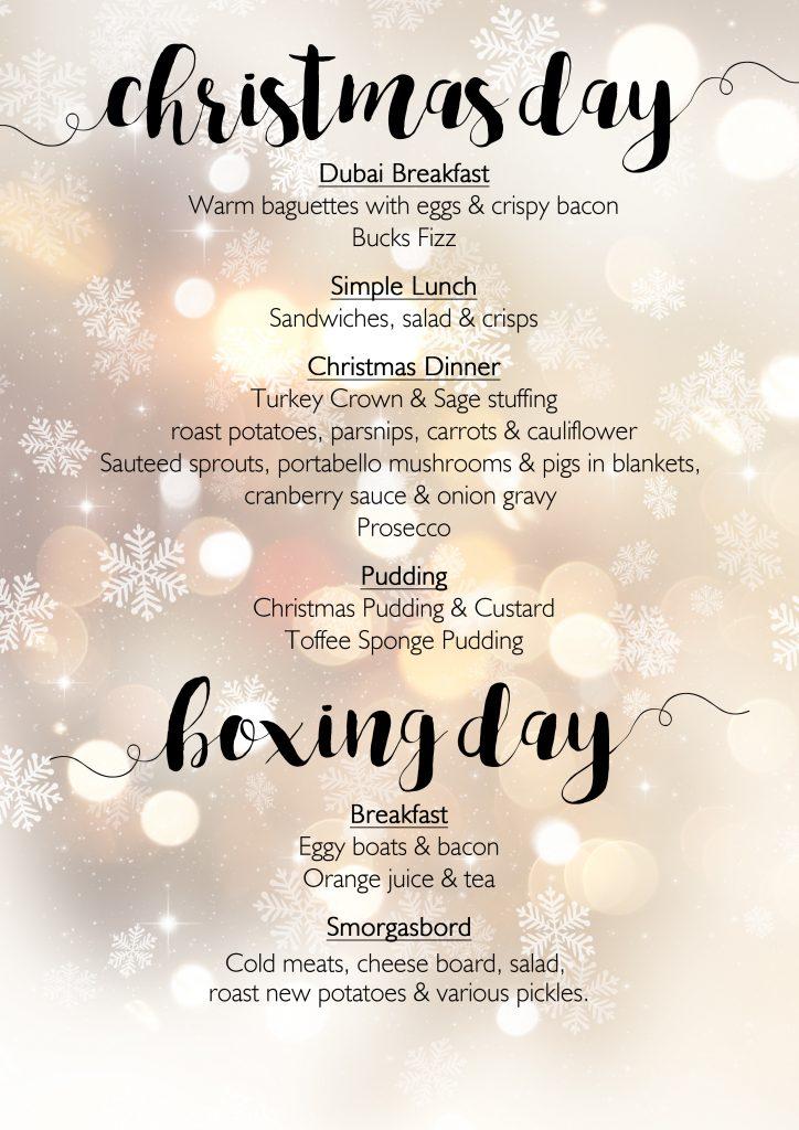 christmas menu - Simple Christmas Menu