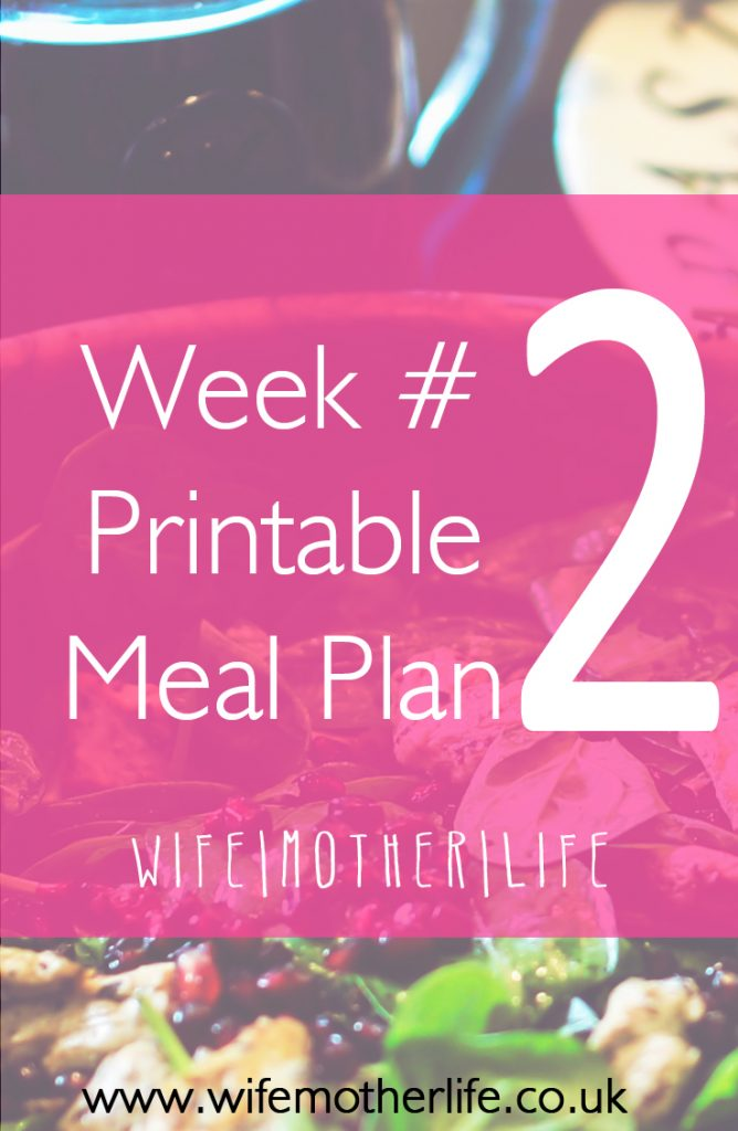 Free printable meal plan ready to take the stress out of wondering what's for dinner next week.