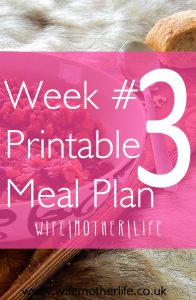 Taking the stress out of meal planning with this easy free printable from wife|mother|life