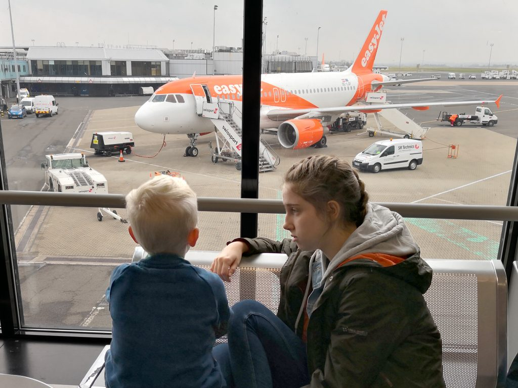 Traveling to Belfast - Waiting to board EasyJet