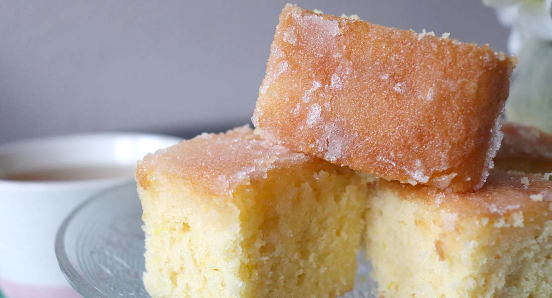 Dairy Free Lemon Drizzle Tray Bake